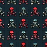 Skull and cross bones seamless pattern. Original design for print or digital media Stock Photos