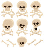 Skull And Cross Bones Set Stock Photo