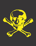 Skull and Cross Bones Vector Design Clipart Royalty Free Stock Photos