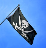 Skull and cross swords flag Royalty Free Stock Photos