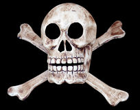 Skull and Crossbones. Isolated with clipping path Royalty Free Stock Photos
