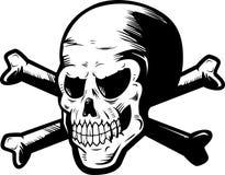 Skull & Crossbones. A black and white skull and crossbones Royalty Free Stock Photos