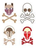 Skull and crossbones Royalty Free Stock Photography