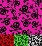 Skull and crossbones. Seamless pattern stock illustration