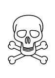 Skull and crossbones. Symbol no white background Stock Photo