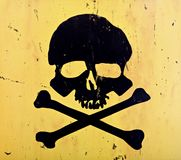Skull and crossbones. From an aged sign Royalty Free Stock Photo