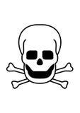 Skull & Crossbones. Illustration of skull and crossbones on white background royalty free illustration