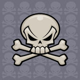 Skull and Crossbones. Vector illustration. Might look nice on a pirate flag or a bottle of poison royalty free illustration