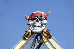 Skull and crossbones from above Installed on a carousel Royalty Free Stock Images
