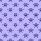 Skull with crossbones background. Seamless purple pattern from h Royalty Free Stock Image