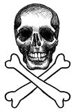 Skull and Crossbones black and white Royalty Free Stock Photo