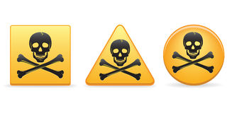 Skull And Crossbones Buttons Royalty Free Stock Photos