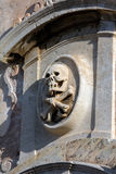 Skull and crossbones on the facade of San Giuseppe in Taormina Royalty Free Stock Photos