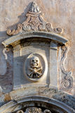 Skull and crossbones on the facade of San Giuseppe in Taormina Stock Photos