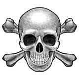 Skull and crossbones figure Stock Images