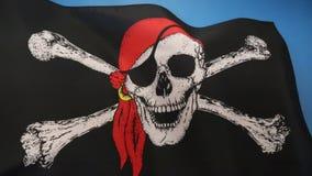 Skull and Crossbones Flag - Jolly Roger stock illustration