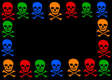 Skull and crossbones frame Stock Photos