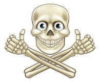 Skull and Crossbones Giving Thumbs Up Royalty Free Stock Photos