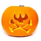 Skull Crossbones Halloween Pumpkin Royalty Free Stock Image