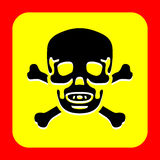 Skull and crossbones icon great for any use. Vector EPS10. Stock Photo