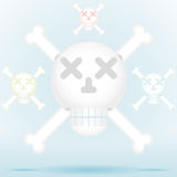 Skull and crossbones icon style in different color Stock Photos