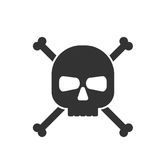 Skull and crossbones icon Stock Photography