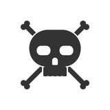 Skull and crossbones icon Royalty Free Stock Photography