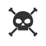 Skull and crossbones icon Royalty Free Stock Photos