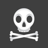 Skull And Crossbones. Illustration of a skull and crossbones on a black background Royalty Free Stock Photography
