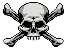 Skull and Crossbones. A skull and crossbones illustration like a pirates jolly roger sign or poison warning icon royalty free illustration