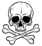 Skull and Crossbones. Isolated over white background. Additional vector format in EPS8 royalty free illustration