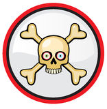 Skull and crossbones. Isolated on white Stock Photos