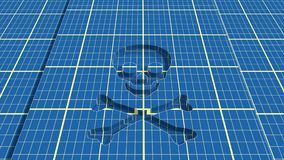 Skull and crossbones - a mark of the danger  warning Stock Photos