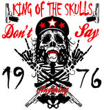 Skull and crossbones / a mark of the danger warning / T-shirt  Royalty Free Stock Photography
