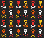 Skull and crossbones pattern Royalty Free Stock Photo