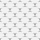 Skull and crossbones pattern Royalty Free Stock Photography
