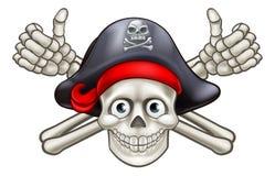 Skull and Crossbones Pirate Cartoon Stock Photography