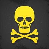 Skull and crossbones poster Stock Photography