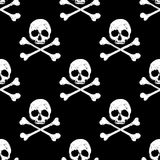 Skull and crossbones seamless background Stock Image