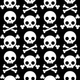 Skull and crossbones seamless pattern Royalty Free Stock Photography