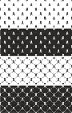 Skull & Crossbones Seamless Pattern Set Stock Image