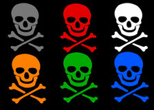 Skull and crossbones set Royalty Free Stock Photo