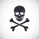 Skull and crossbones sign. Skull and crossbones symbol, vector illustration for your design and presentation Stock Photos