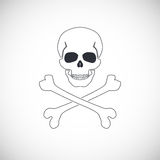 Skull and crossbones sign. Royalty Free Stock Photos