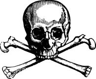 Skull and crossbones sketch Royalty Free Stock Photo