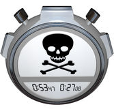 Skull Crossbones Stopwatch Timer Death Clock Stock Image