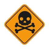 Skull and crossbones symbol, danger sign. Vector illustration for your design and presentation Stock Photo