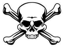Skull and Crossbones Symbol Royalty Free Stock Photography