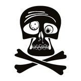 Skull and crossbones. Stock Photography