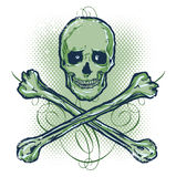 Skull and Crossbones Vector illustration royalty free stock image